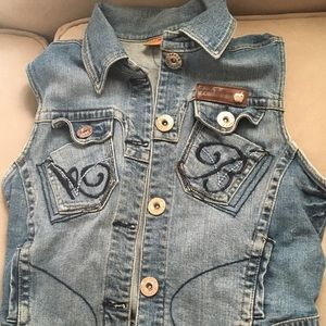Apple Bottoms denim vest .szXL